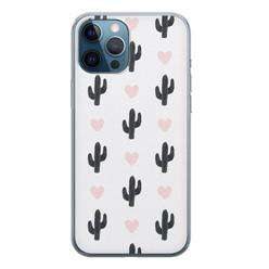 iPhone 12 Pro siliconen hoesje - Cactus love
