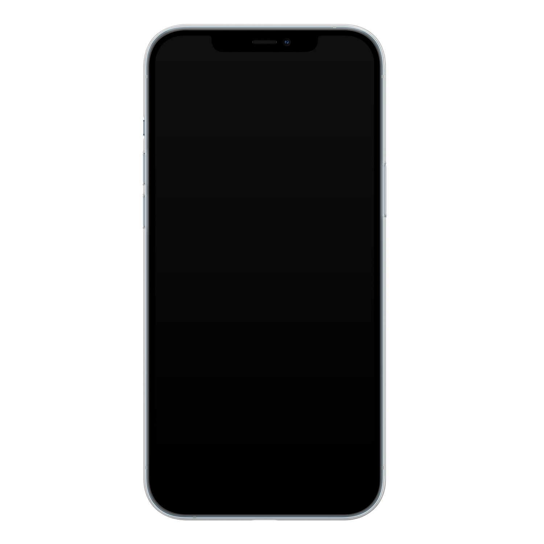 iPhone 12 Pro siliconen hoesje - Marmer navy blauw
