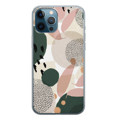 iPhone 12 Pro siliconen hoesje - Abstract print