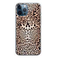 Leuke Telefoonhoesjes iPhone 12 Pro siliconen hoesje - Wild animal