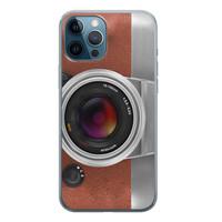 iPhone 12 Pro siliconen hoesje - Vintage camera