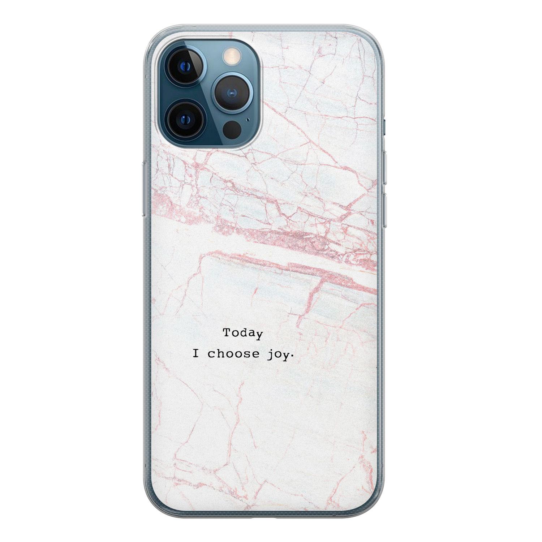 iPhone 12 Pro siliconen hoesje - Today I choose joy