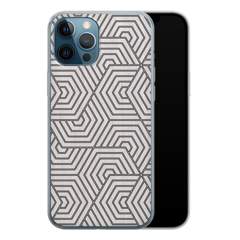 iPhone 12 Pro siliconen hoesje - Geometrisch