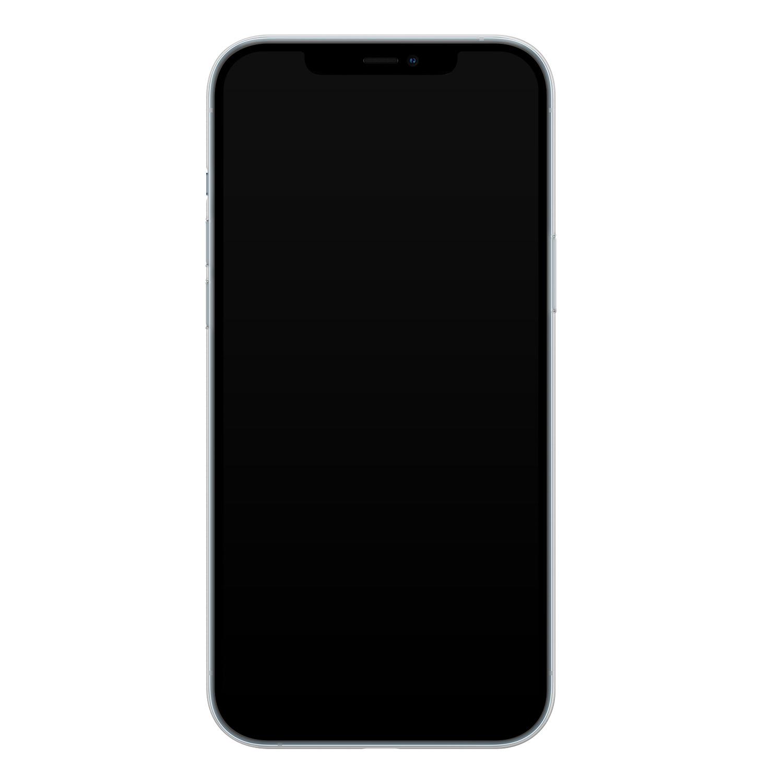 iPhone 12 Pro siliconen hoesje - Abstract gezicht lijnen