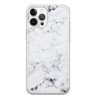 iPhone 12 Pro Max siliconen hoesje - Marmer grijs