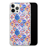 iPhone 12 Pro Max siliconen hoesje - Boho vibe