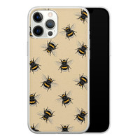 iPhone 12 Pro Max siliconen hoesje - Bee happy
