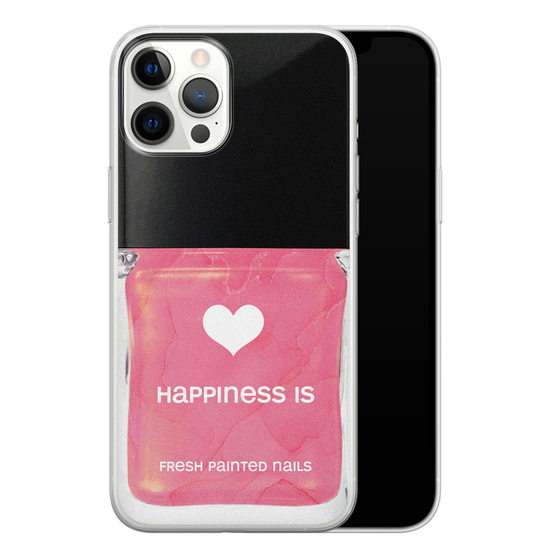 iPhone 12 Pro Max siliconen hoesje - Nagellak