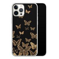 iPhone 12 Pro Max siliconen hoesje - Vlinders