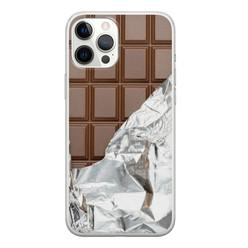 Leuke Telefoonhoesjes iPhone 12 Pro Max siliconen hoesje - Chocoladereep