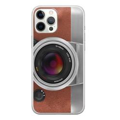 Leuke Telefoonhoesjes iPhone 12 Pro Max siliconen hoesje - Vintage camera