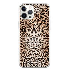 Leuke Telefoonhoesjes iPhone 12 Pro Max siliconen hoesje - Wild animal