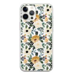 Leuke Telefoonhoesjes iPhone 12 Pro Max siliconen hoesje - Lovely flower
