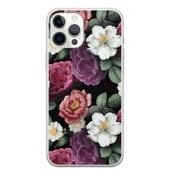 Leuke Telefoonhoesjes iPhone 12 Pro Max siliconen hoesje - Bloemenliefde