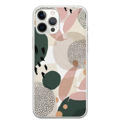 Leuke Telefoonhoesjes iPhone 12 Pro Max siliconen hoesje - Abstract print