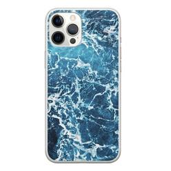 Leuke Telefoonhoesjes iPhone 12 Pro Max siliconen hoesje - Ocean blue