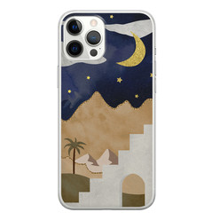 iPhone 12 Pro Max siliconen hoesje - Desert night