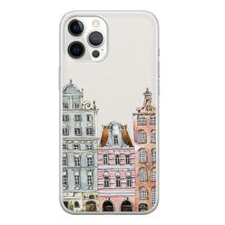 Leuke Telefoonhoesjes iPhone 12 Pro Max siliconen hoesje - Grachtenpandjes
