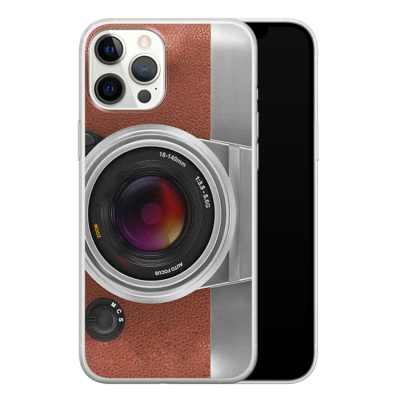 iPhone 12 Pro Max siliconen hoesje - Vintage camera