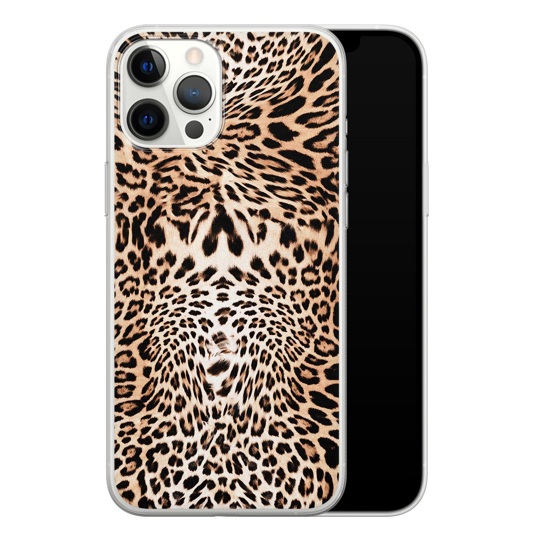 iPhone 12 Pro Max siliconen hoesje - Wild animal