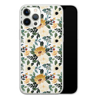 iPhone 12 Pro Max siliconen hoesje - Lovely flower
