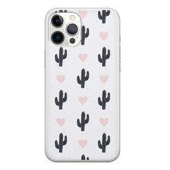 iPhone 12 Pro Max siliconen hoesje - Cactus love