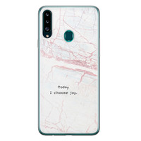 Samsung Galaxy A20s siliconen hoesje - Goud abstract
