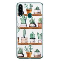 Samsung Galaxy A20s siliconen hoesje - Cactus