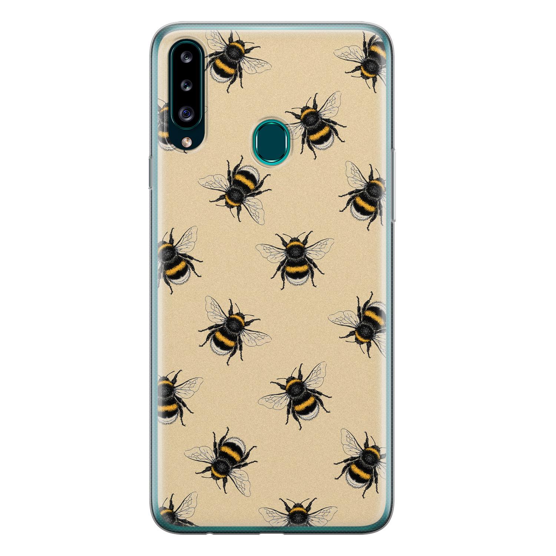 Samsung Galaxy A20s siliconen hoesje - Bee happy
