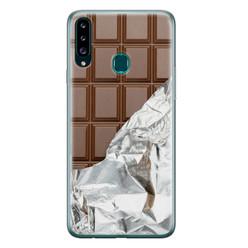 Leuke Telefoonhoesjes Samsung Galaxy A20s siliconen hoesje - Chocoladereep