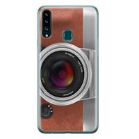 Samsung Galaxy A20s siliconen hoesje - Vintage camera