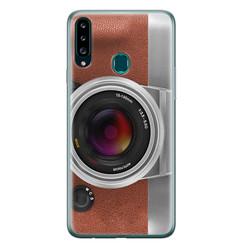 Leuke Telefoonhoesjes Samsung Galaxy A20s siliconen hoesje - Vintage camera