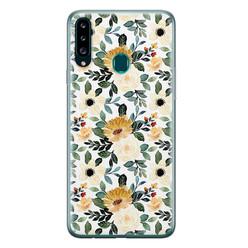 Leuke Telefoonhoesjes Samsung Galaxy A20s siliconen hoesje - Lovely flower