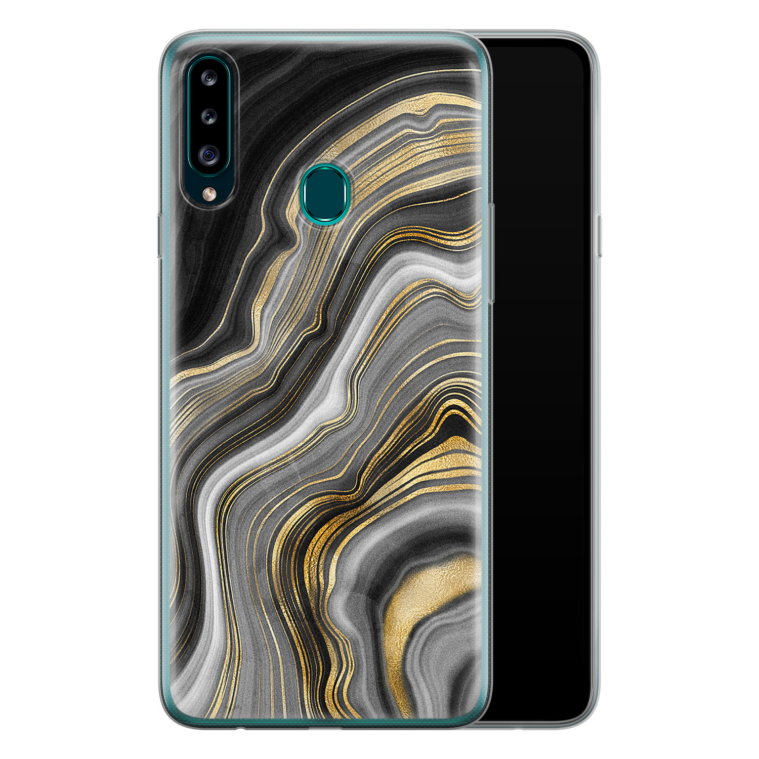 Samsung Galaxy A20s siliconen hoesje - Golden agate