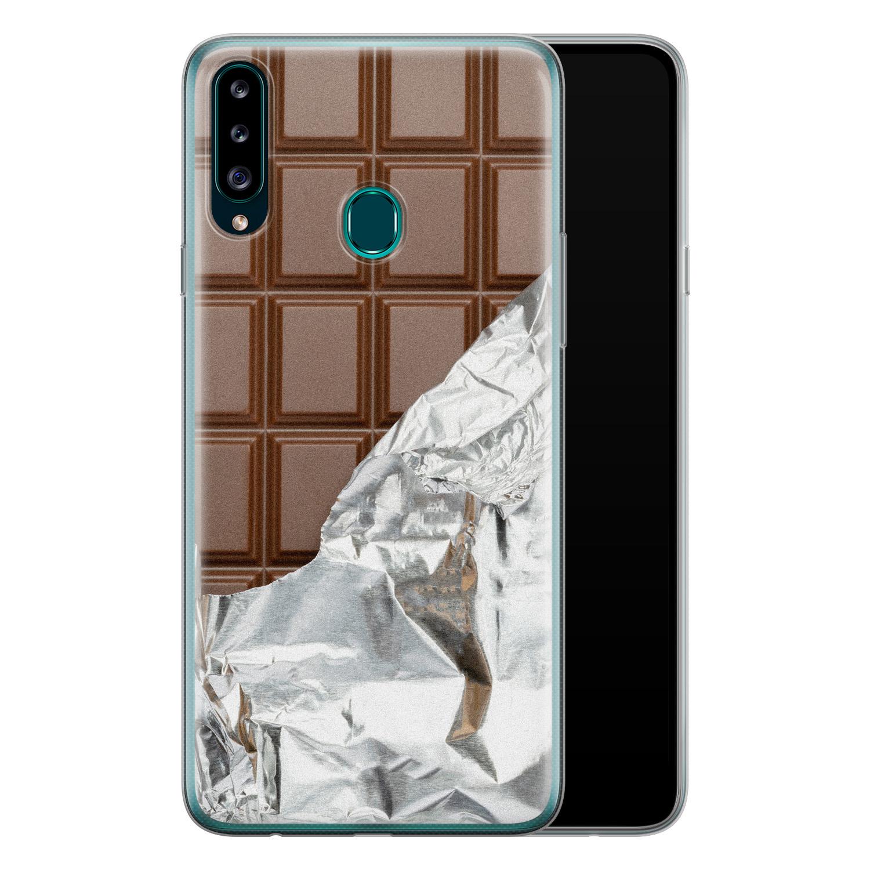 Samsung Galaxy A20s siliconen hoesje - Chocoladereep