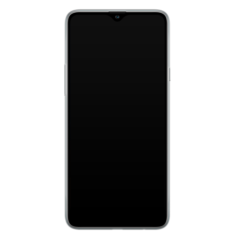 Samsung Galaxy A20s siliconen hoesje - Luipaard mint