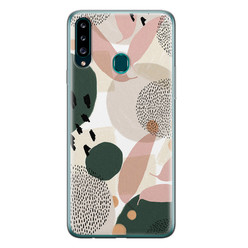 Samsung Galaxy A20s siliconen hoesje - Abstract print
