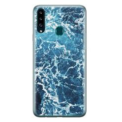Leuke Telefoonhoesjes Samsung Galaxy A20s siliconen hoesje - Ocean blue