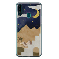 Samsung Galaxy A20s siliconen hoesje - Desert night