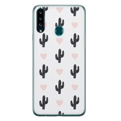 Leuke Telefoonhoesjes Samsung Galaxy A20s siliconen hoesje - Cactus love