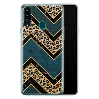 Samsung Galaxy A20s siliconen hoesje - Luipaard zigzag