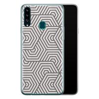 Samsung Galaxy A20s siliconen hoesje - Geometrisch