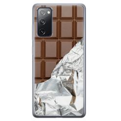 Leuke Telefoonhoesjes Samsung Galaxy S20 FE siliconen hoesje - Chocoladereep