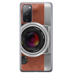 Leuke Telefoonhoesjes Samsung Galaxy S20 FE siliconen hoesje - Vintage camera