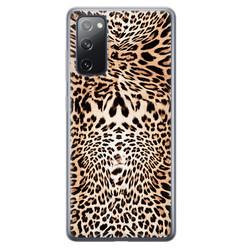 Leuke Telefoonhoesjes Samsung Galaxy S20 FE siliconen hoesje - Wild animal