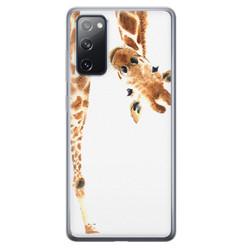 Samsung Galaxy S20 FE siliconen hoesje - Giraffe peekaboo