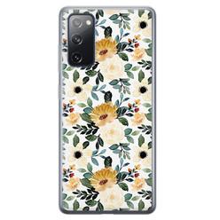 Leuke Telefoonhoesjes Samsung Galaxy S20 FE siliconen hoesje - Lovely flower