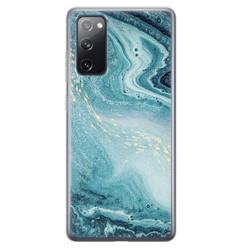 Leuke Telefoonhoesjes Samsung Galaxy S20 FE siliconen hoesje - Marmer blauw