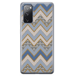 Leuke Telefoonhoesjes Samsung Galaxy S20 FE siliconen hoesje - Retro zigzag