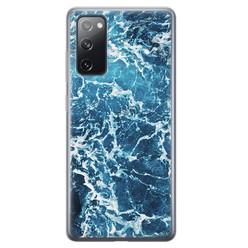 Leuke Telefoonhoesjes Samsung Galaxy S20 FE siliconen hoesje - Ocean blue